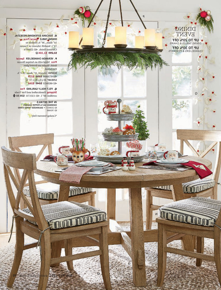 Well Liked Pottery Barn – Holiday 2017 D1 – Toscana Extending Pedestal Within Seadrift Benchwright Pedestal Extending Dining Tables (View 15 of 25)