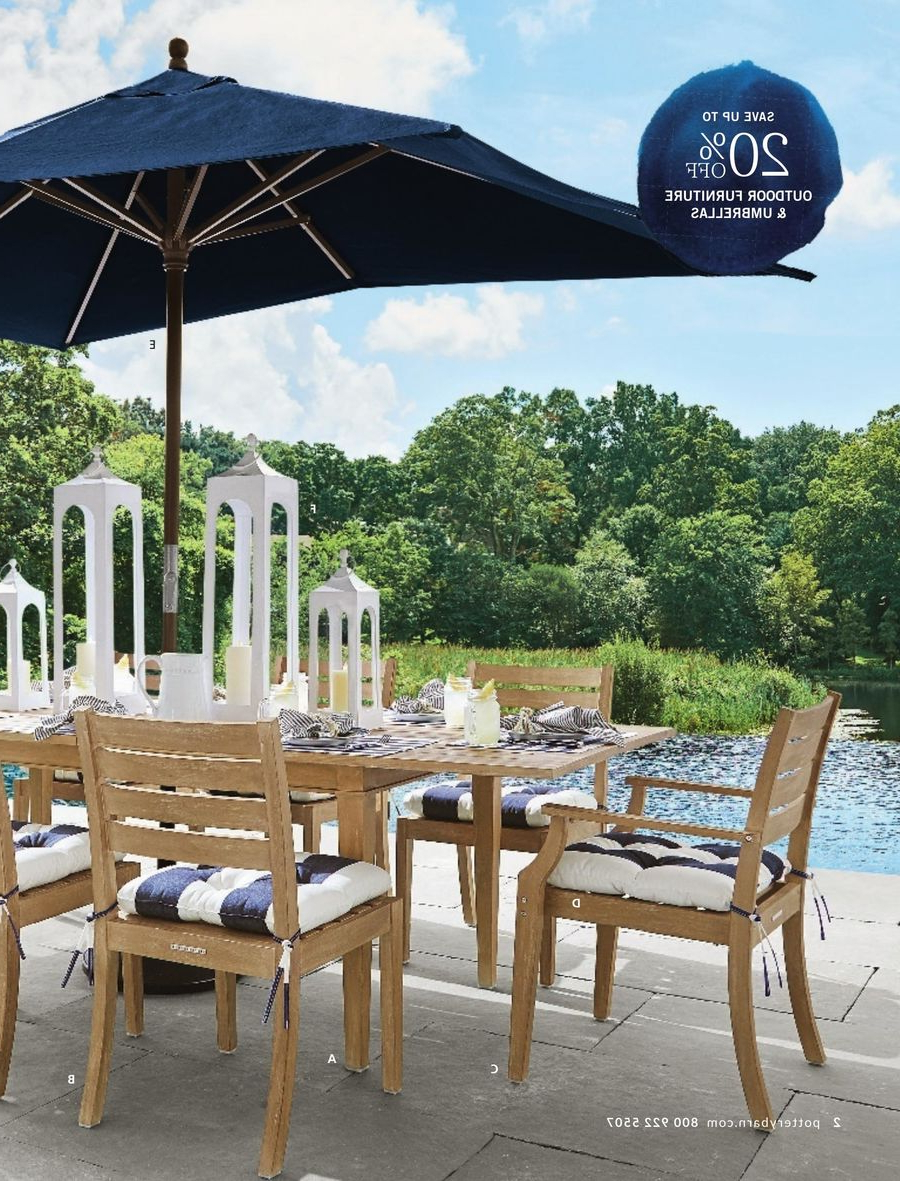 Well Liked Pottery Barn May 2017Pottery Barn With Alfresco Brown Banks Pedestal Extending Dining Tables (View 23 of 25)
