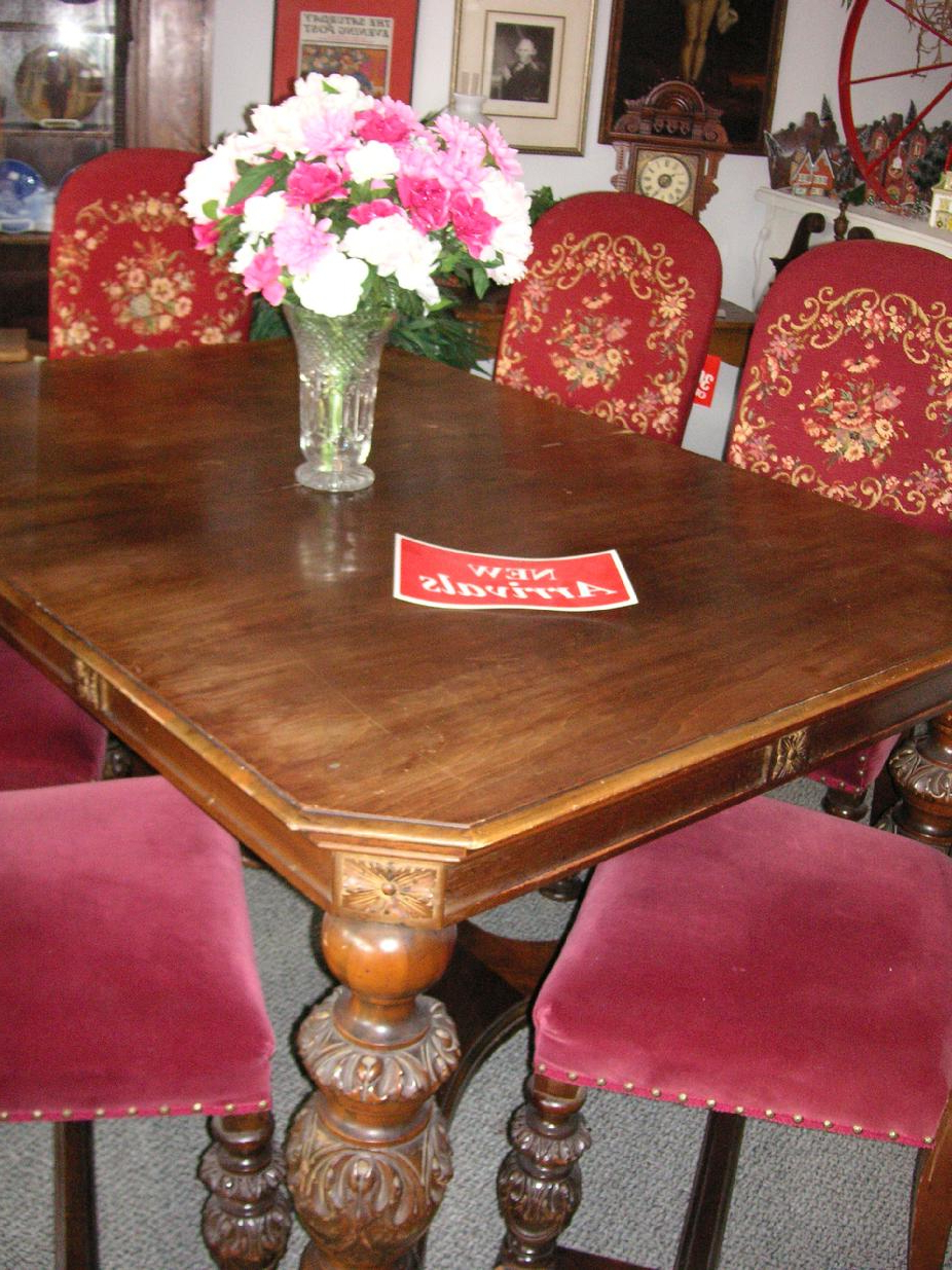 West Saint Paul Antiques In Best And Newest Shaw Dining Tables, English Brown (View 17 of 25)
