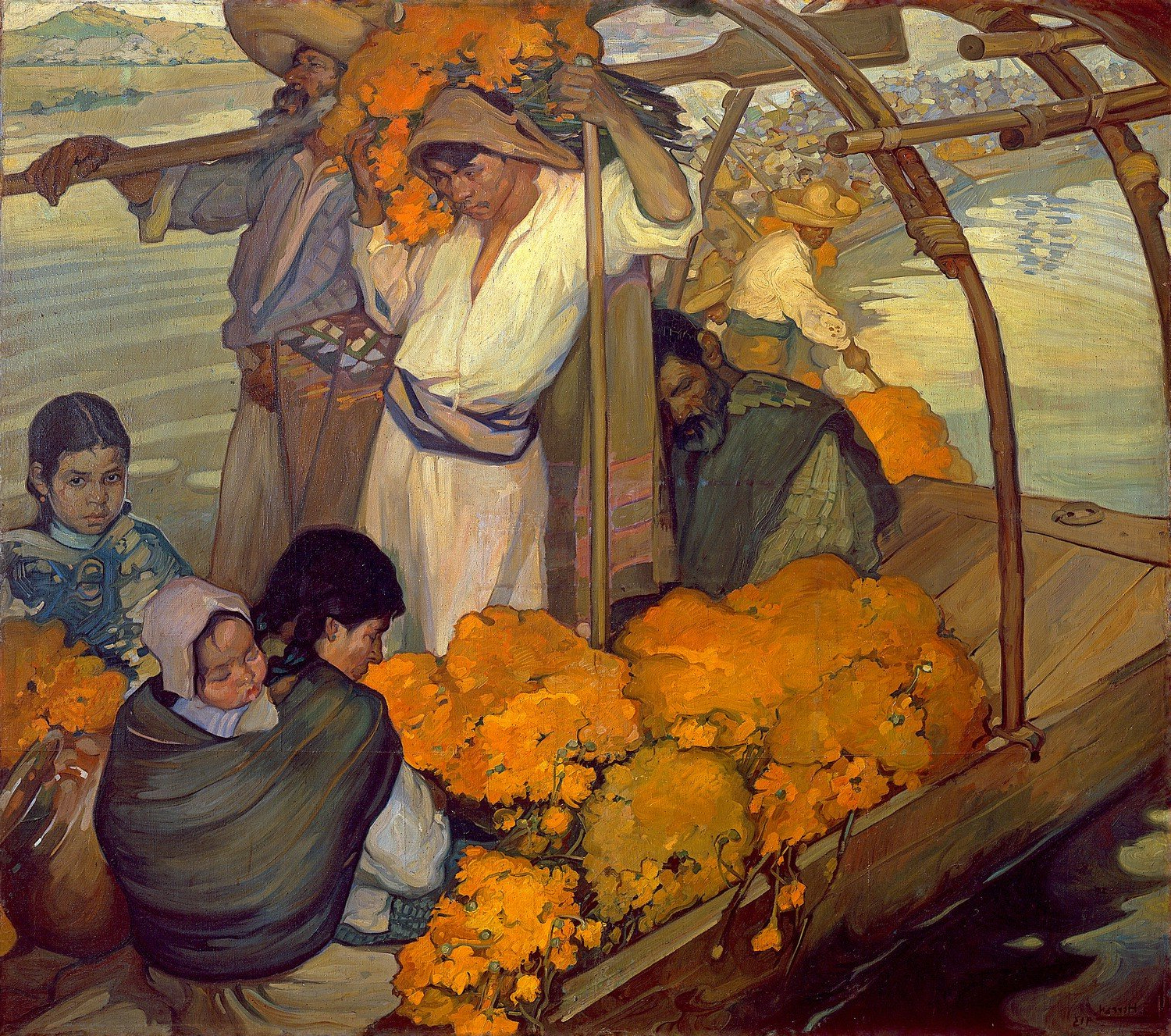 """Widely Used Odsan The Offering – Saturnino Herrán – Canvas Prints 28"""" Regarding Herran Dining Tables (View 18 of 25)"""