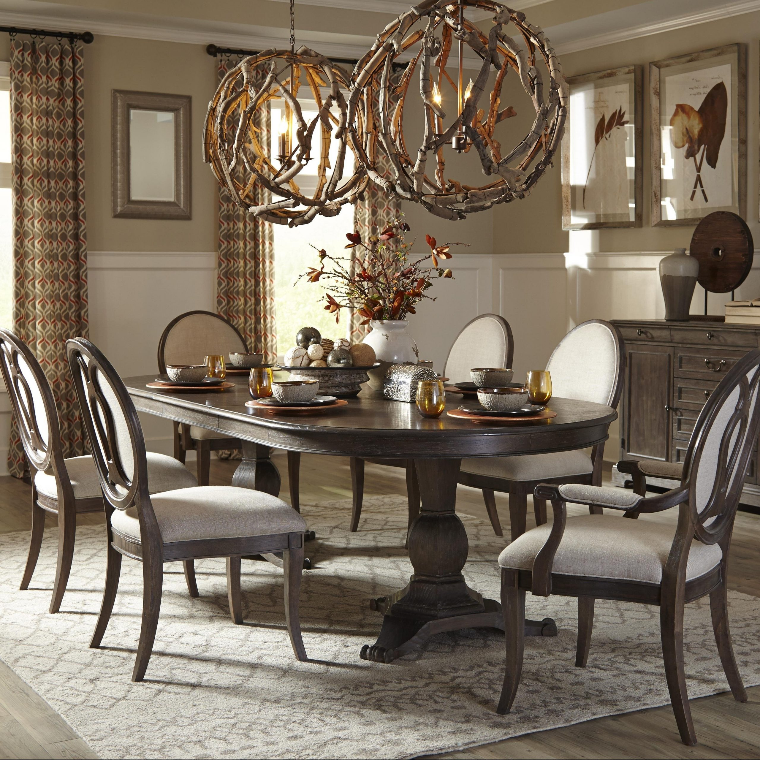 2019 50+ Double Pedestal Dining Table You'll Love In 2020 In Transitional Antique Walnut Square Casual Dining Tables (View 1 of 25)