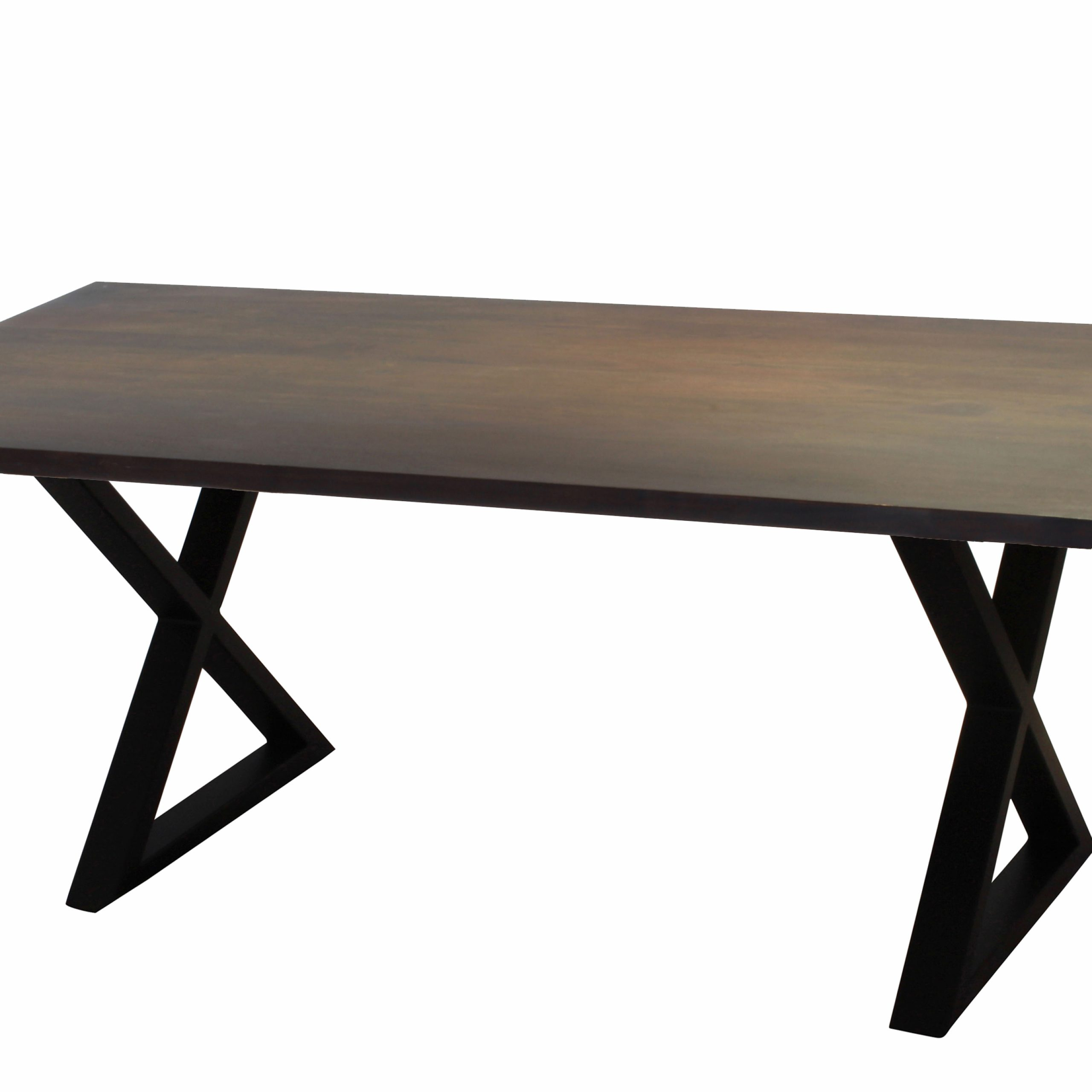 "2019 Acacia Dining Tables With Black X Legs Throughout Corcoran Acacia Live Edge Dining Table With Black X Legs – 72"" (View 6 of 25)"