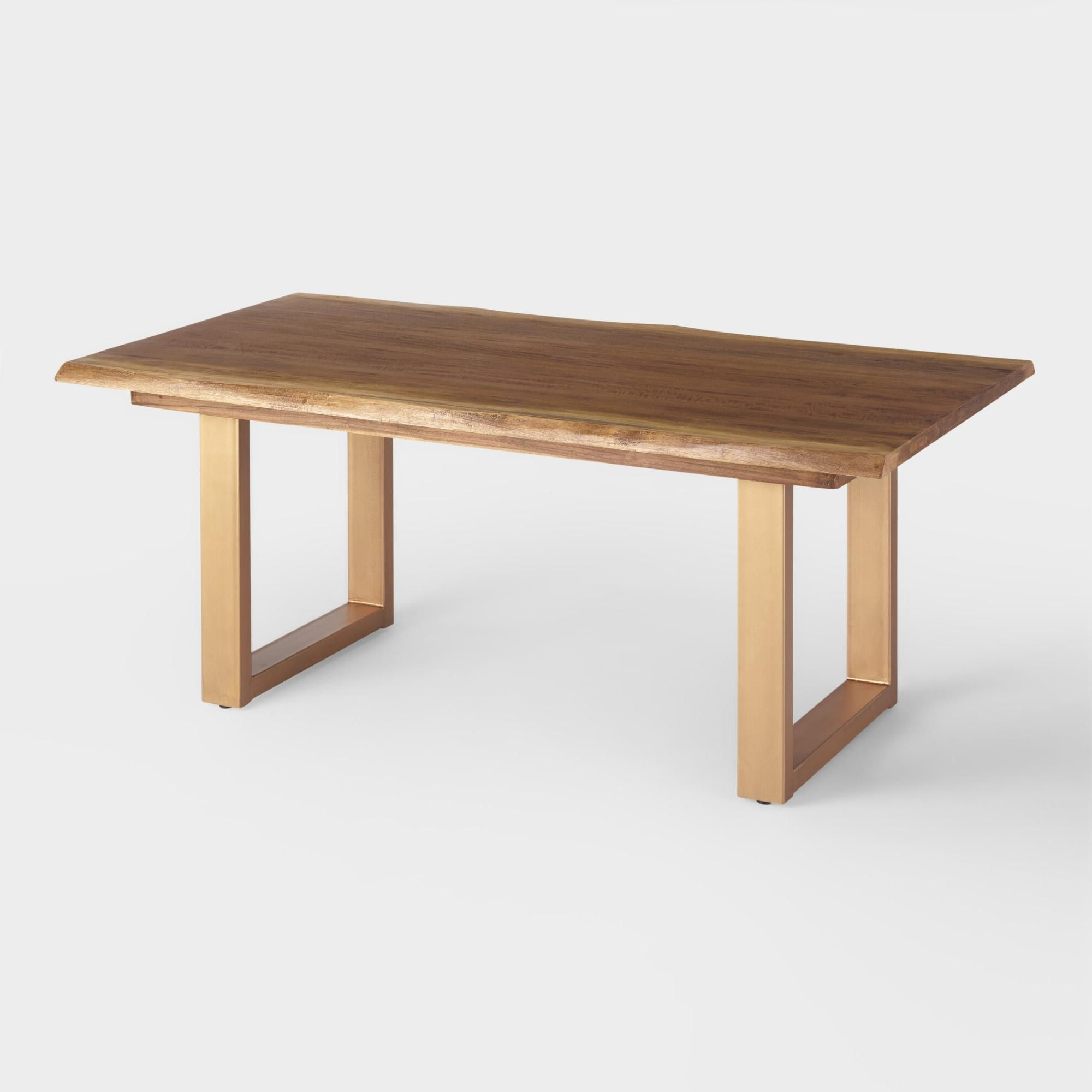 2019 Dining Tables In Smoked/seared Oak in With Its U-Shaped Matte Gold Base And Sleek Smoke Black