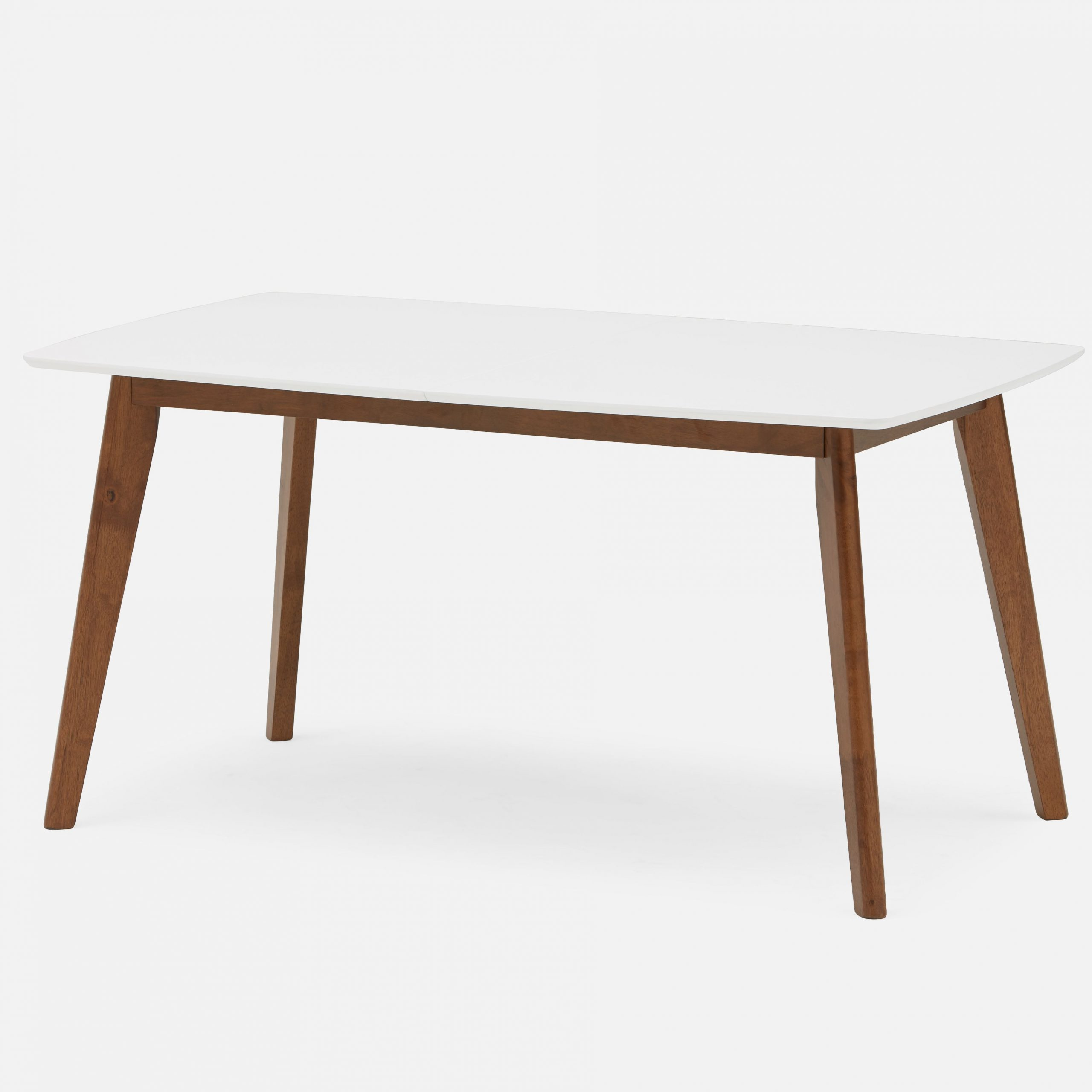 2019 Juhana Extendable Dining Table With Lacquered Top 150Cm To in Acacia Wood Dining Tables With Sheet Metal Base
