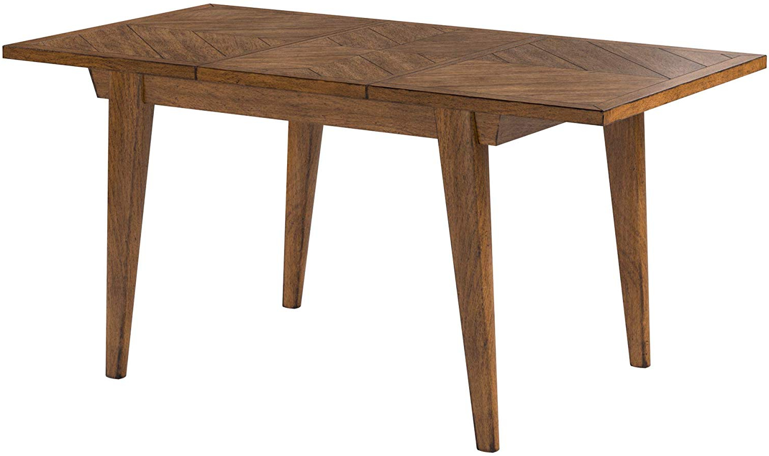 """2019 Rustic Country 8-Seating Casual Dining Tables in Rivet Ian Modern Medium Dining Kitchen Table, Expandable, 60-80""""w, Brown"""