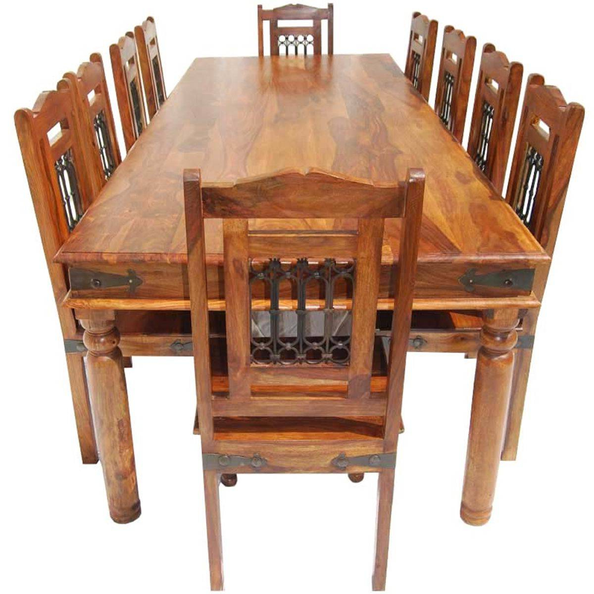 2019 Rustic Furniture Large Dining Table Room Set Seats For with regard to Large Rustic Look Dining Tables