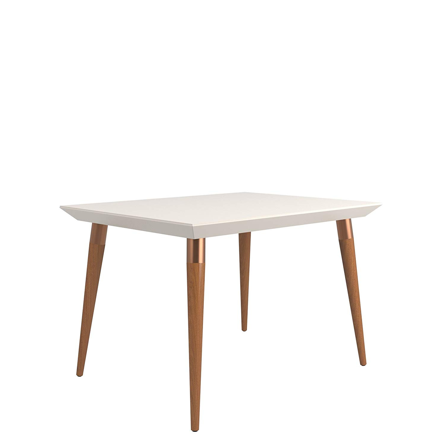 2019 Rustic Mid Century Modern 6 Seating Dining Tables In White And Natural Wood In Amazon: Manhattan Comfort Utopia Small Mid Century (View 2 of 25)