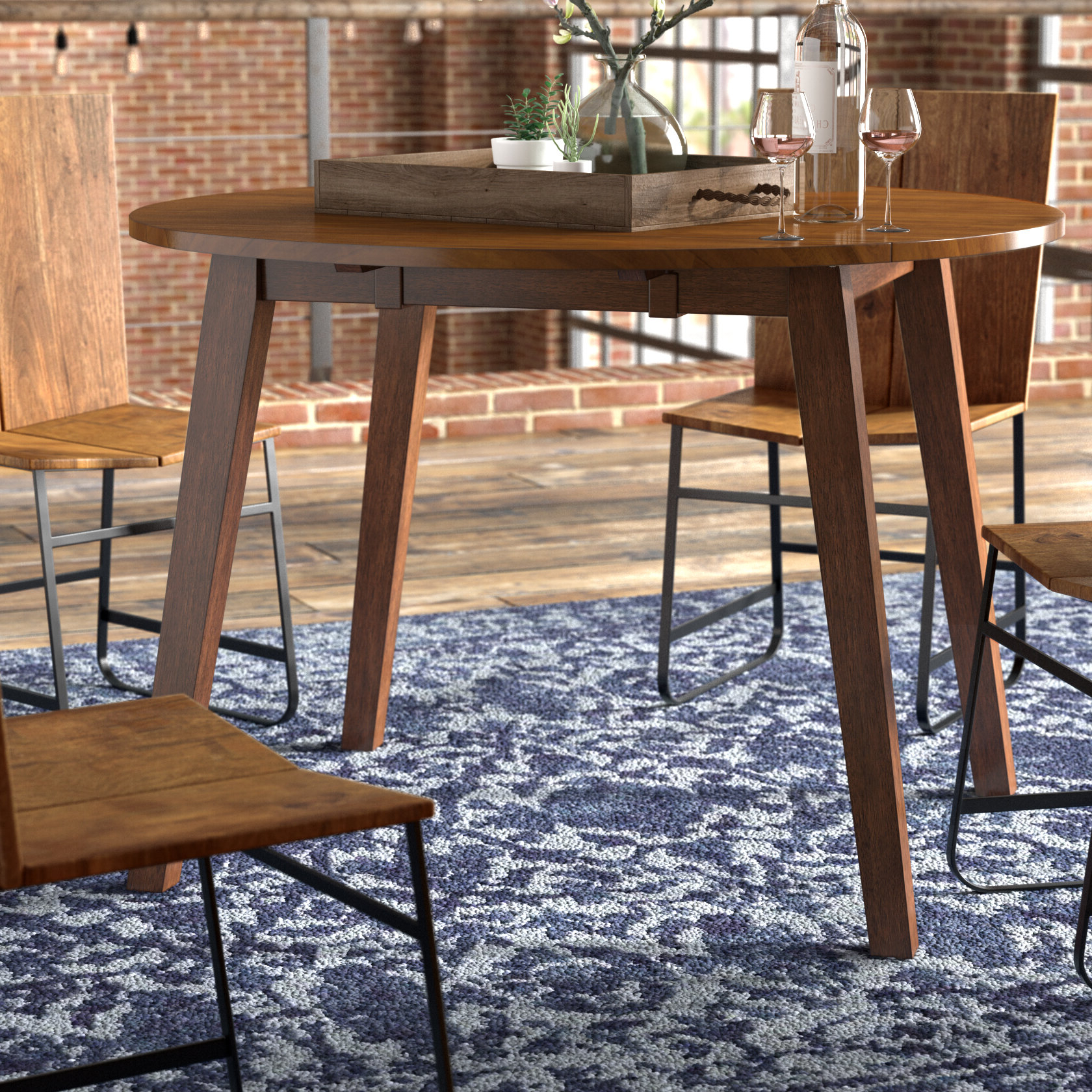 2019 Trent Austin Design Caracara Round Dropleaf Extendable With Transitional 4 Seating Double Drop Leaf Casual Dining Tables (View 20 of 25)