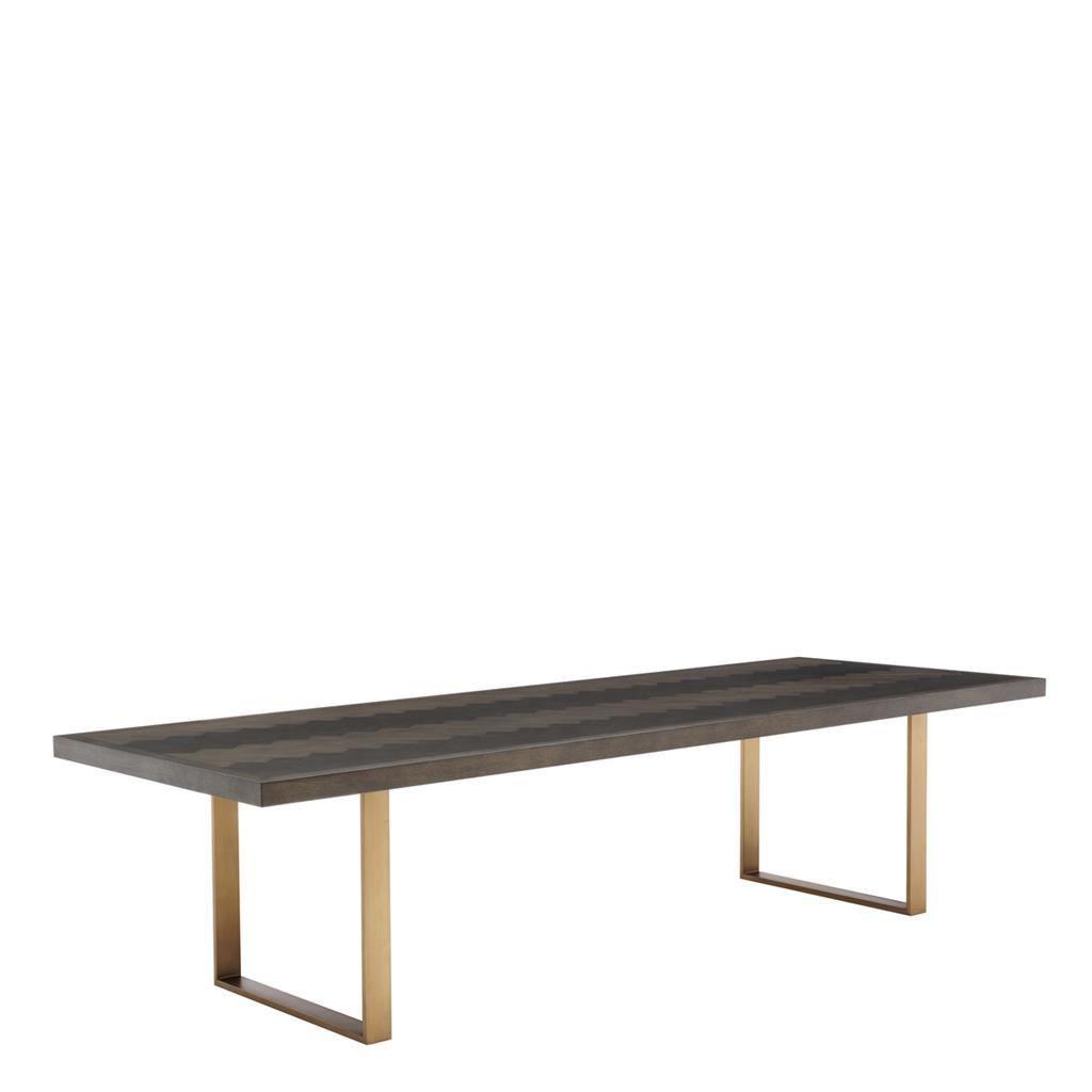 """2020 Brass Oak Dining Table 120"""""""