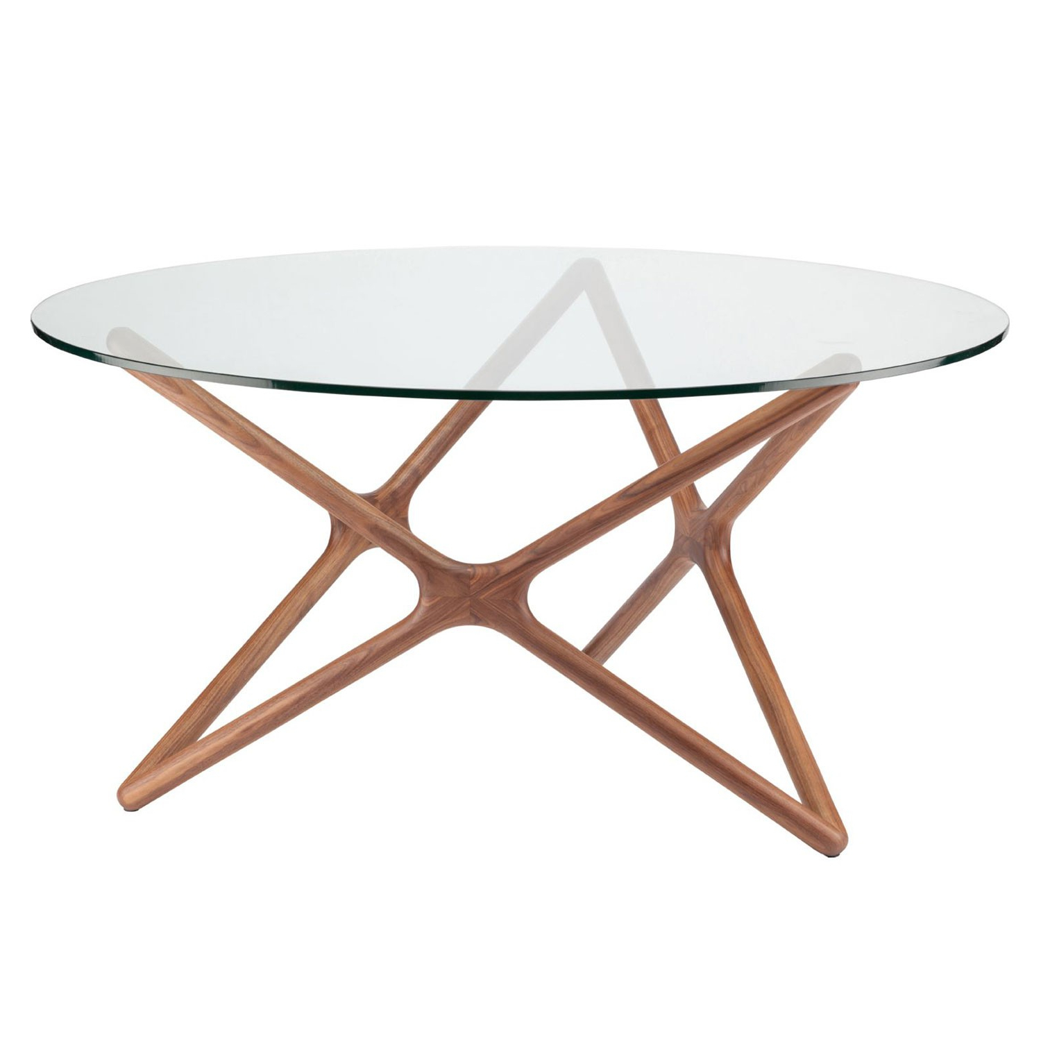 2020 Dining Tables With Stained Ash Walnut in Star Dining Table - Ash Walnut