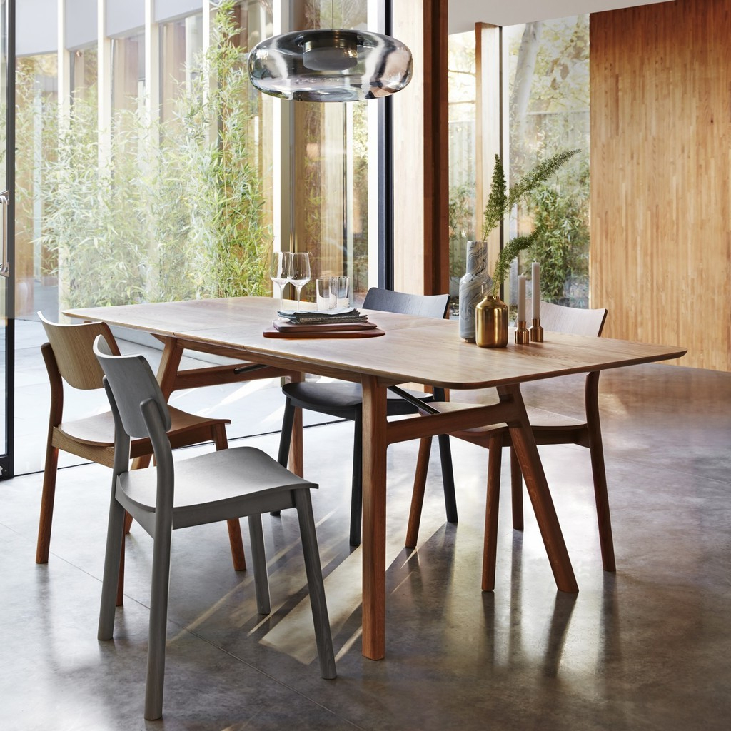 2020 Extending Dining Tables – The Furniture Co with 8 Seater Wood Contemporary Dining Tables With Extension Leaf