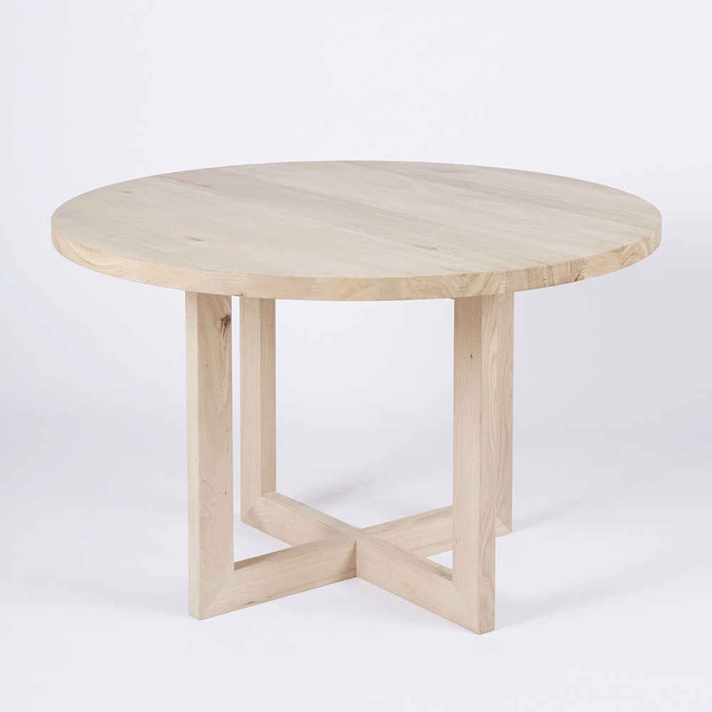 Featured Photo of Solid Wood Circular Dining Tables White