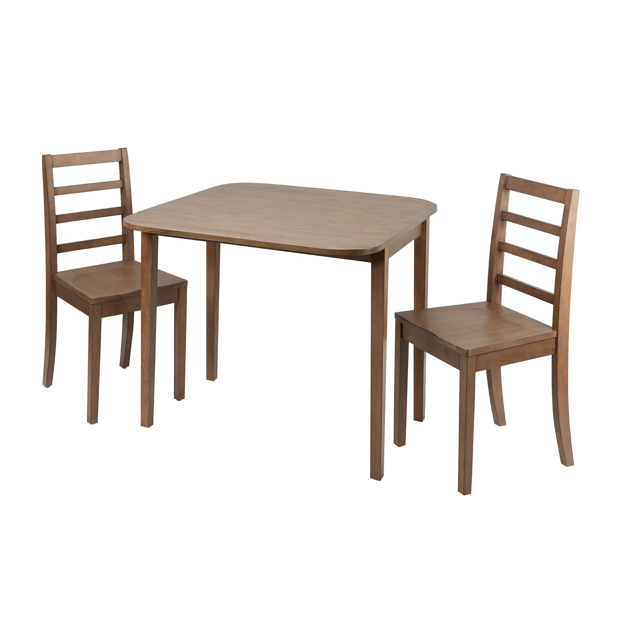 2020 Mason 3 Piece Drop Leaf Dining Set With Ladderback Chairs In Transitional 3 Piece Drop Leaf Casual Dining Tables Set (View 8 of 25)