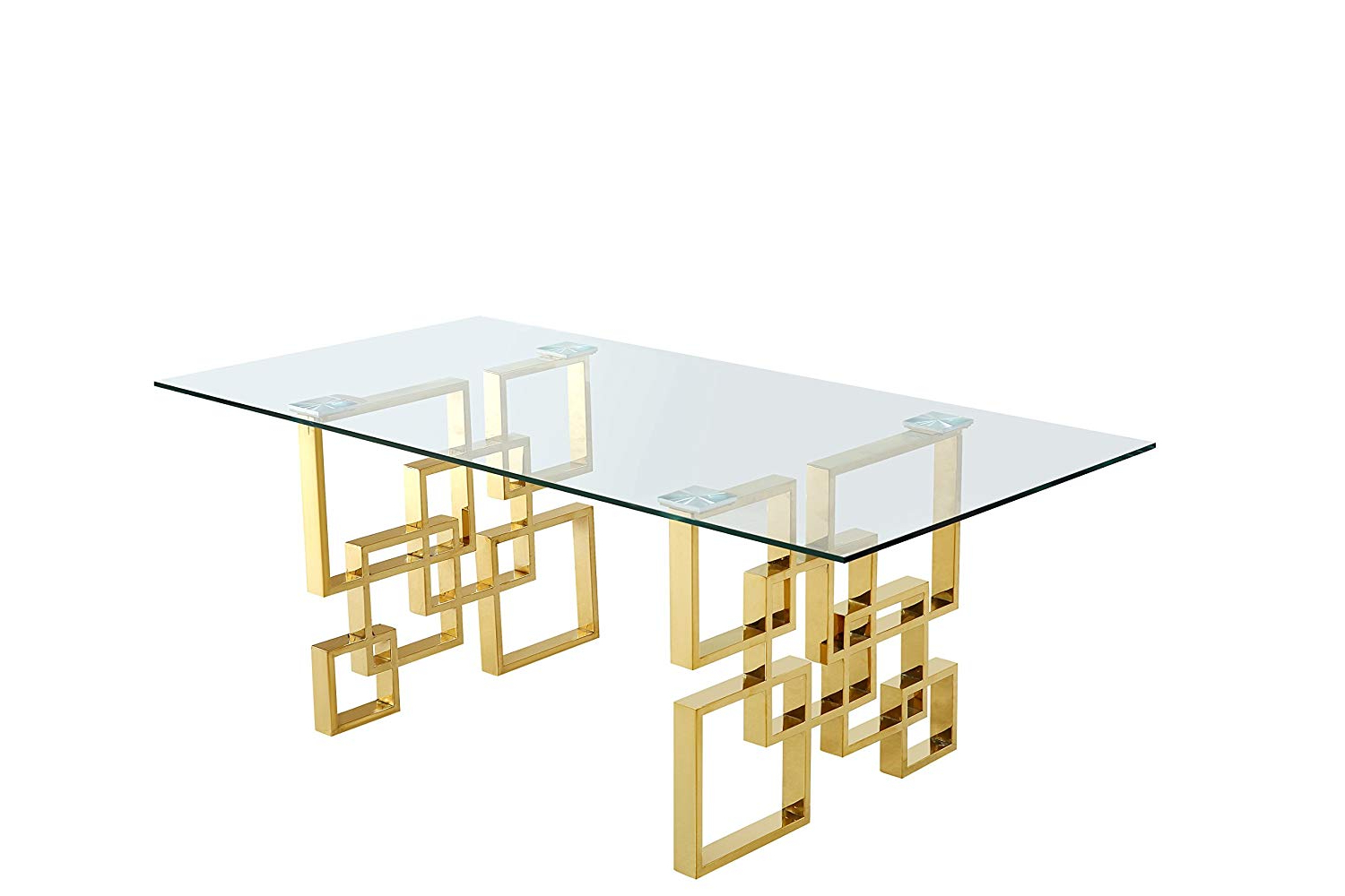 2020 Meridian Furniture 714 T Pierre Contemporary Style 78 Regarding Steel And Glass Rectangle Dining Tables (View 25 of 25)