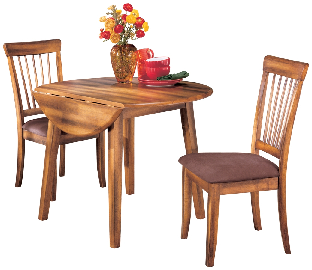 2020 Signature Designashley – Berringer Round Dining Room With Transitional 4 Seating Double Drop Leaf Casual Dining Tables (View 25 of 25)