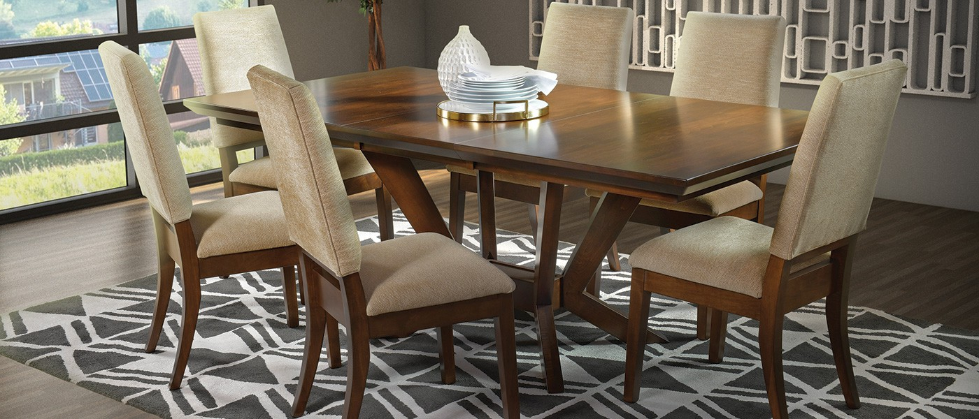 2020 Walnut Finish Live Edge Wood Contemporary Dining Tables Intended For Amish Made Usa Furniture (View 1 of 25)