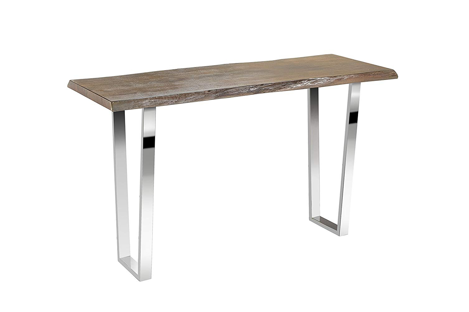 2020 Walnut Finish Live Edge Wood Contemporary Dining Tables With Amazon: Uptown Club Live Edge Collection Modern Console (View 23 of 25)