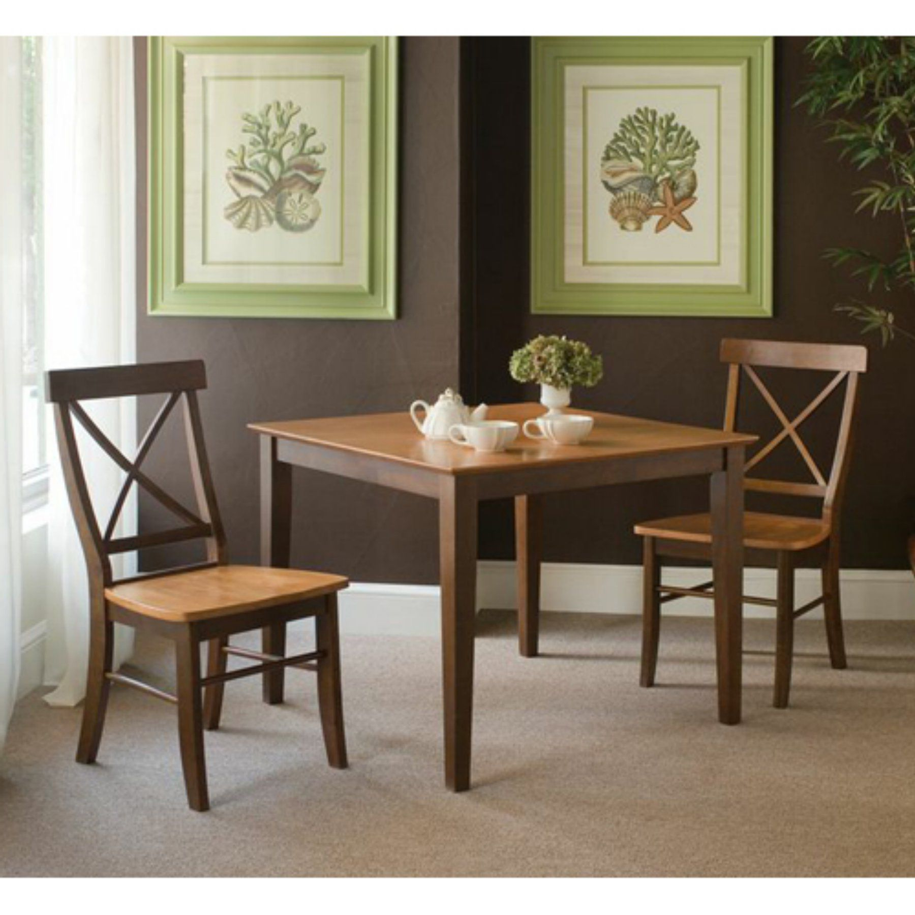 3 Pieces Dining Tables And Chair Set within Latest International Concepts Rossville 3 Piece Dining Table Set