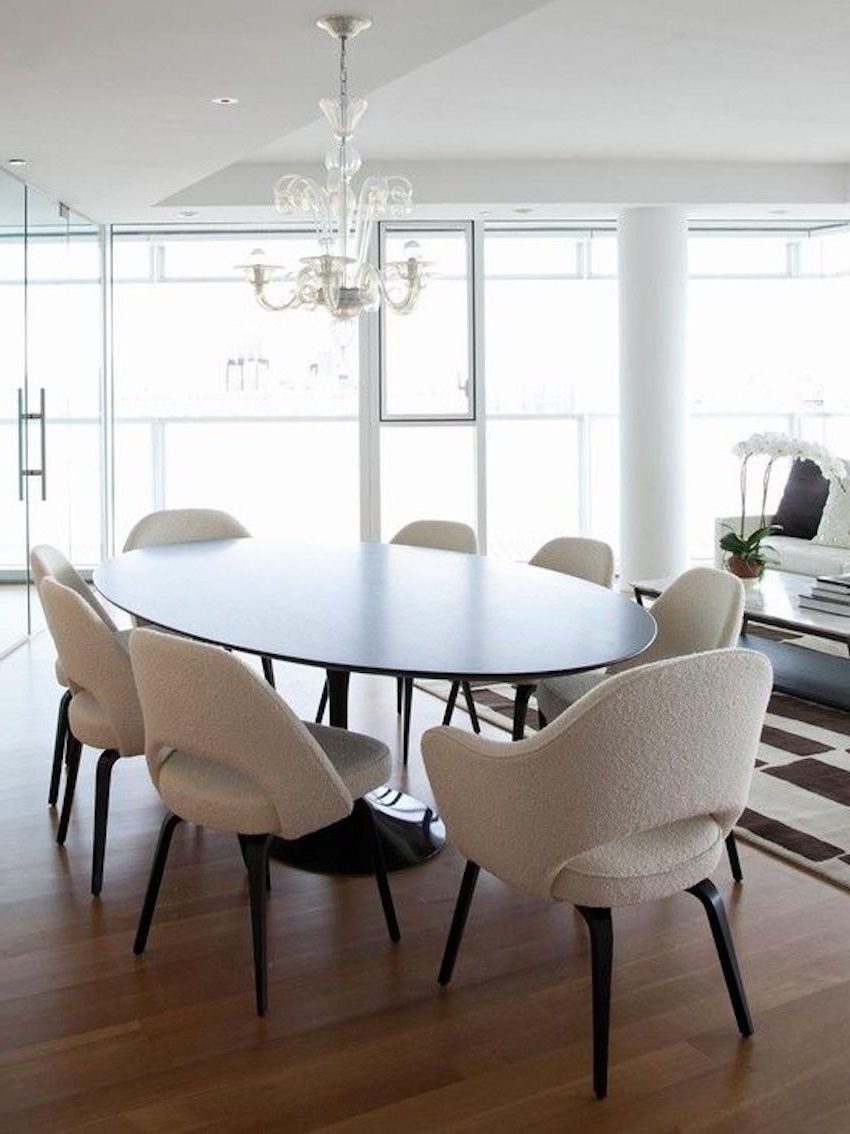 4 Seater Round Wooden Dining Tables With Chrome Legs with 2020 15 Astounding Oval Dining Tables For Your Modern Dining Room