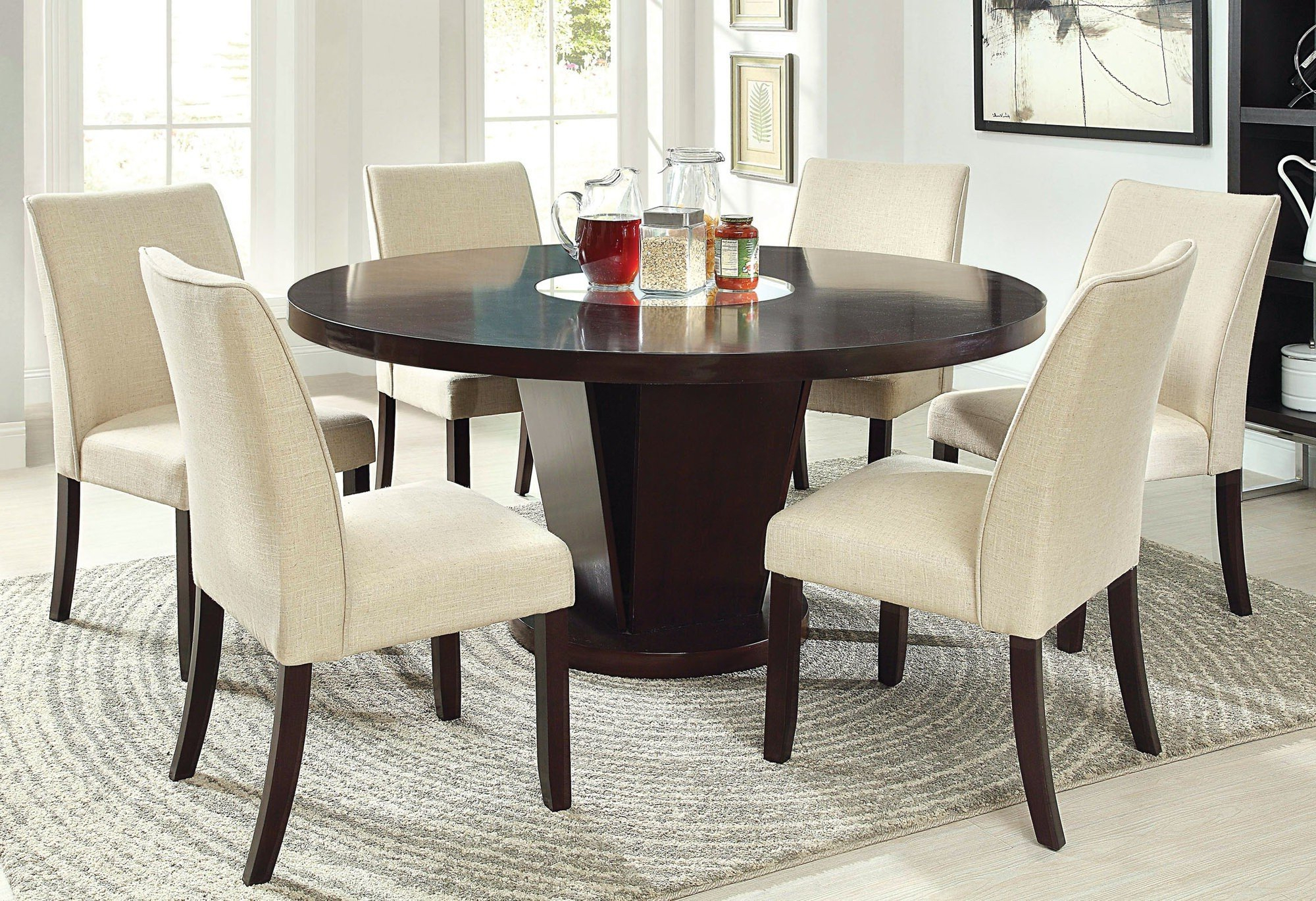 50+ Round Dining Table For 6 You'll Love In 2020 - Visual Hunt regarding Fashionable Medium Elegant Dining Tables