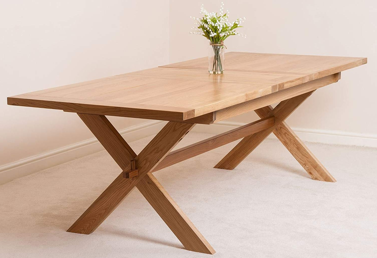 6 8 Seater Cross Leg  Refectory Dining Table (View 4 of 25)
