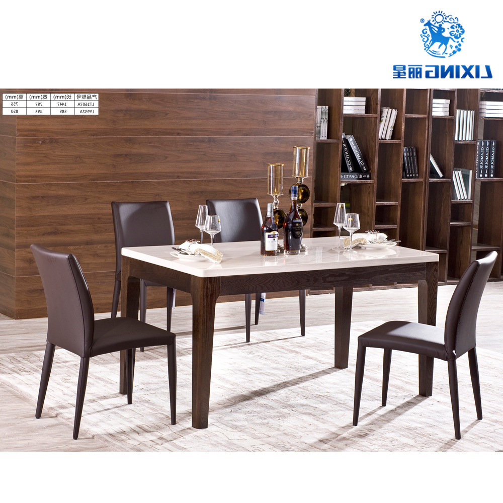 6 Seater Dinning Room Luxury Modern Marble Dining Table Set – Buy Marble Dining Table Set,modern Dining Table Set,dinning Set Product On Alibaba In Popular 6 Seater Retangular Wood Contemporary Dining Tables (View 18 of 25)