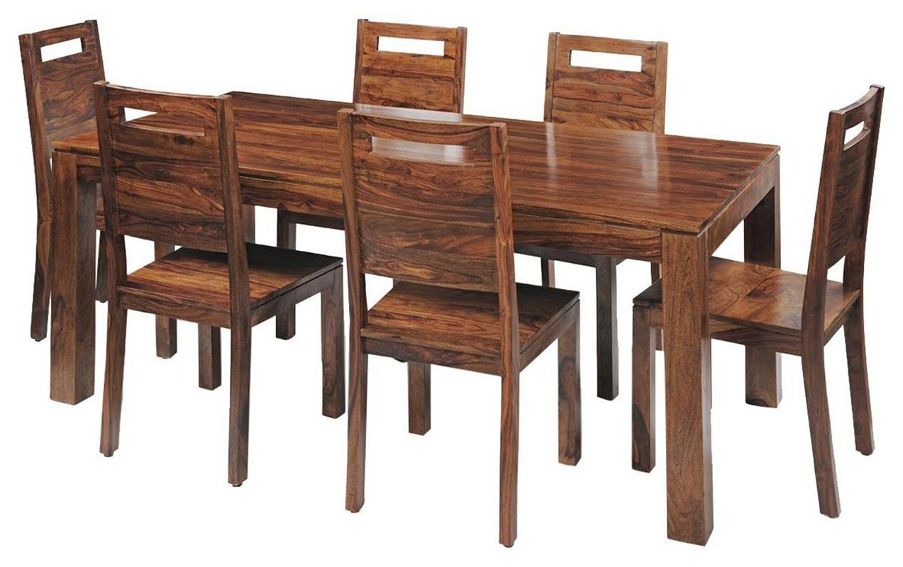 6 Seater Retangular Wood Contemporary Dining Tables For Most Recently Released Contemporary Style 6 Seater Rectangular Dining Table Set (View 2 of 25)
