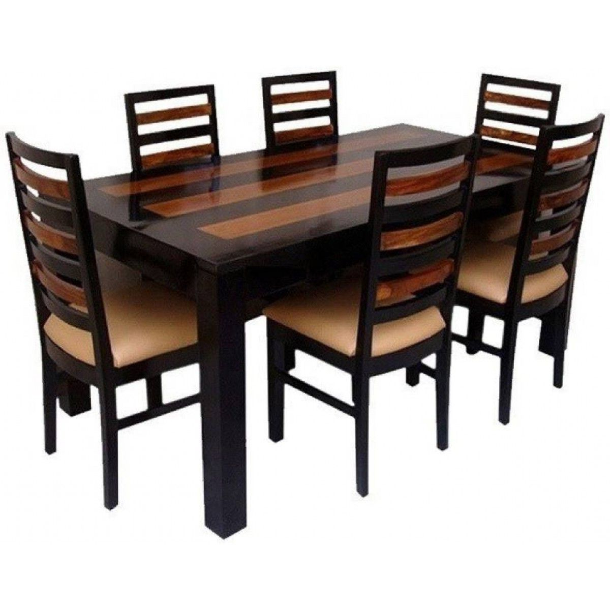 6 Seater Retangular Wood Contemporary Dining Tables In Most Current Wooden Designed Dining Table Set (View 6 of 25)