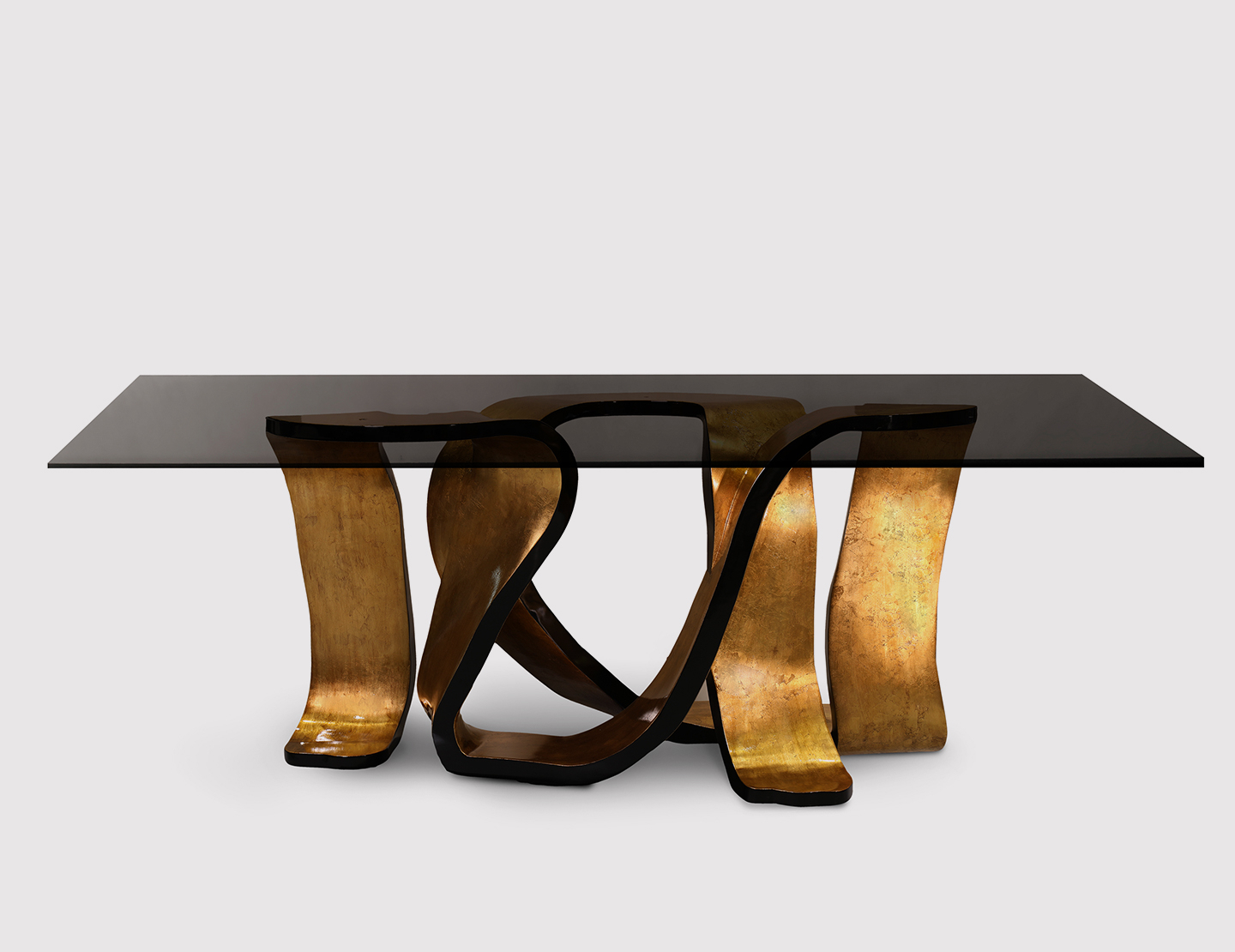 A Chic Dining Tablekoket Within Smoked Oval Glasstop Dining Tables (View 15 of 25)