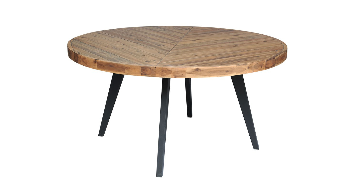 Acacia Dining Tables With Black Legs For Fashionable Avalon Round Dining Table – Large (View 6 of 25)