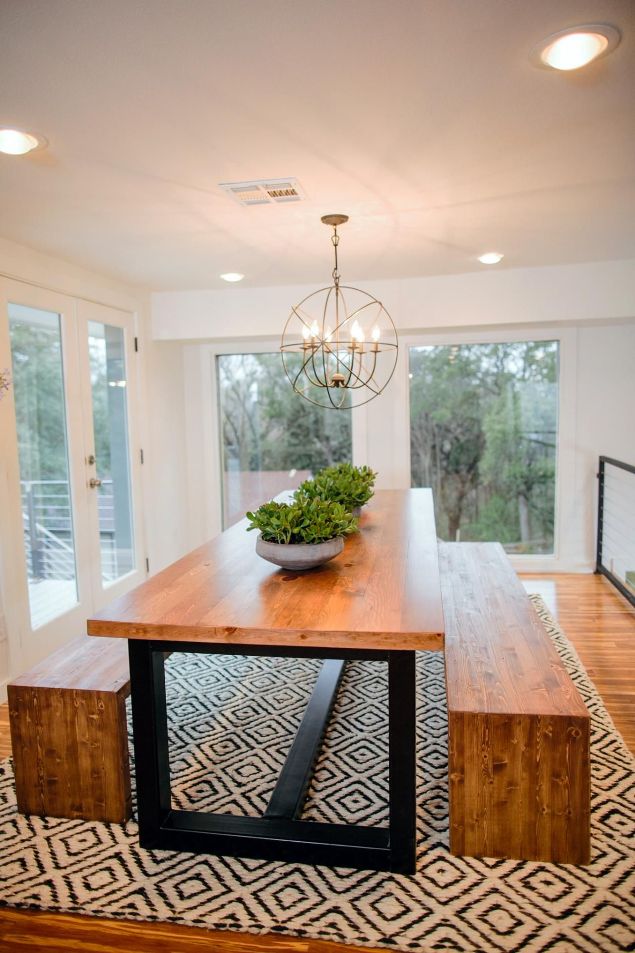 """Acacia Dining Tables With Black Rocket Legs Inside Fashionable Fixer Upper: Bringing A Modern Coastal Look To A """"faceless (View 10 of 25)"""