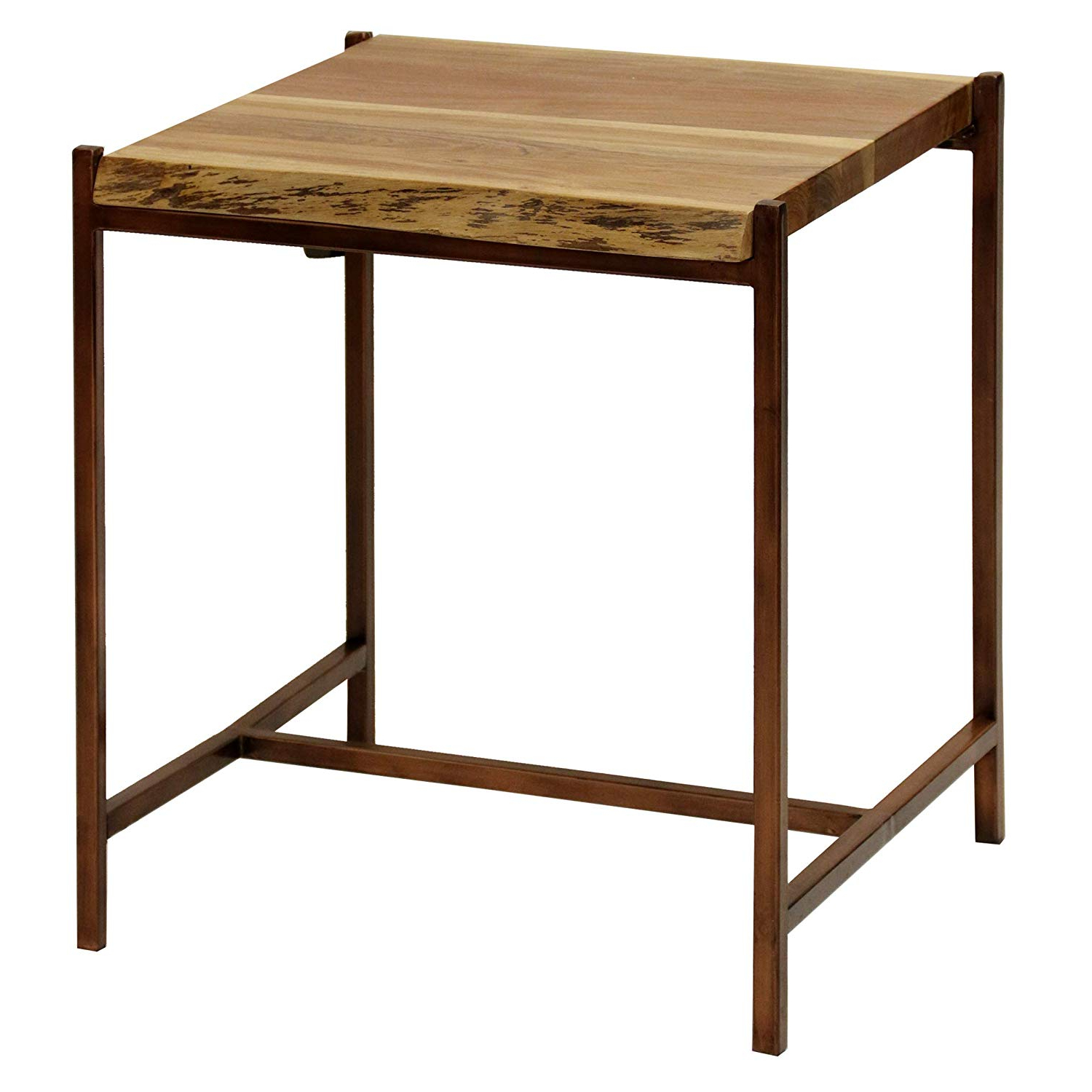 Acacia Dining Tables With Black Rocket Legs With Regard To Well Known Amazon: Collective Design Transitional Solid Acacia Wood (View 25 of 25)