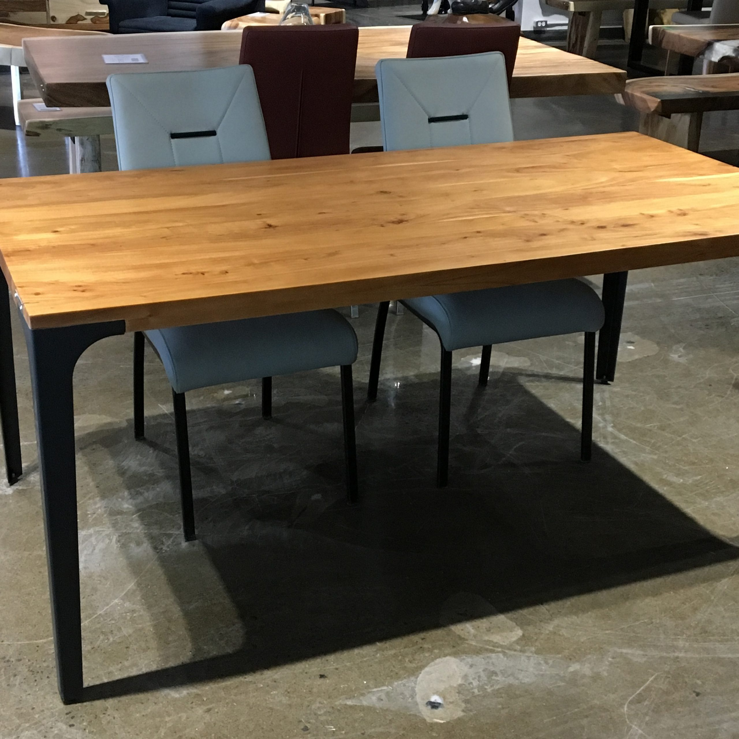 """Acacia Dining Tables With Black Victor Legs For Trendy Corcoran Acacia Live Edge Dining Table With Black Victor Legs – 96"""" (View 7 of 25)"""