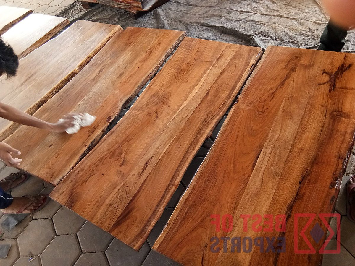 Acacia Dining Tables With Black Victor Legs Throughout Well Known Liveedgefurniture Hashtag On Twitter (View 17 of 25)
