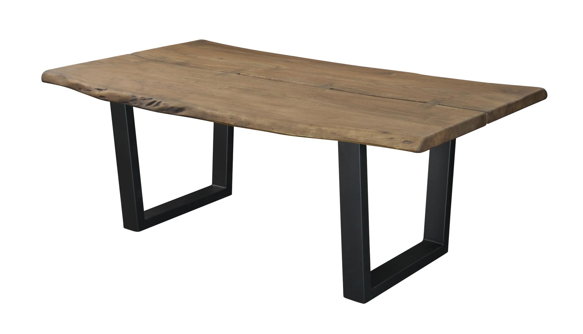 Acacia Top Dining Tables With Metal Legs For 2020 Coast To Coast  (View 3 of 25)