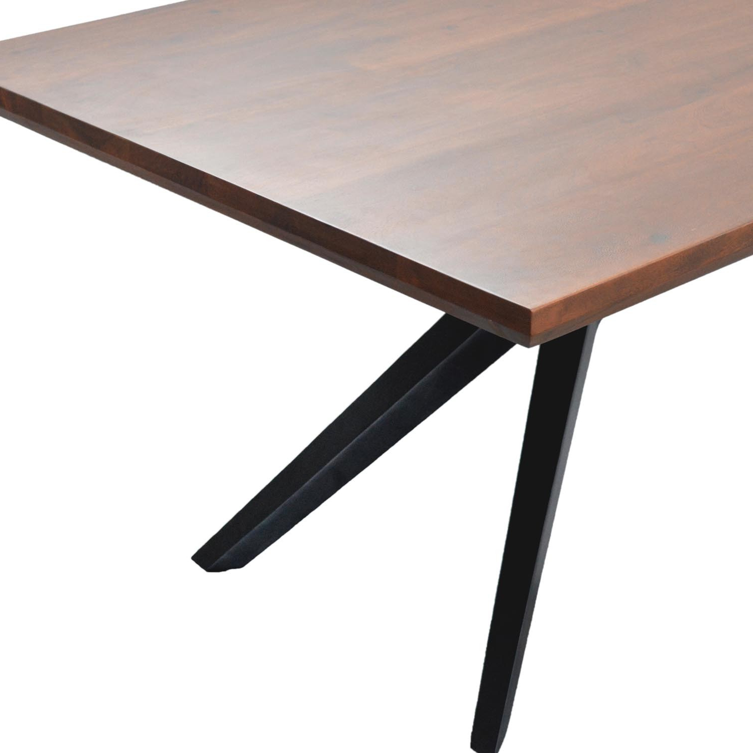 Acacia Wood Dining Tables With Sheet Metal Base Inside Well Known Streamline Dining Table (View 5 of 25)