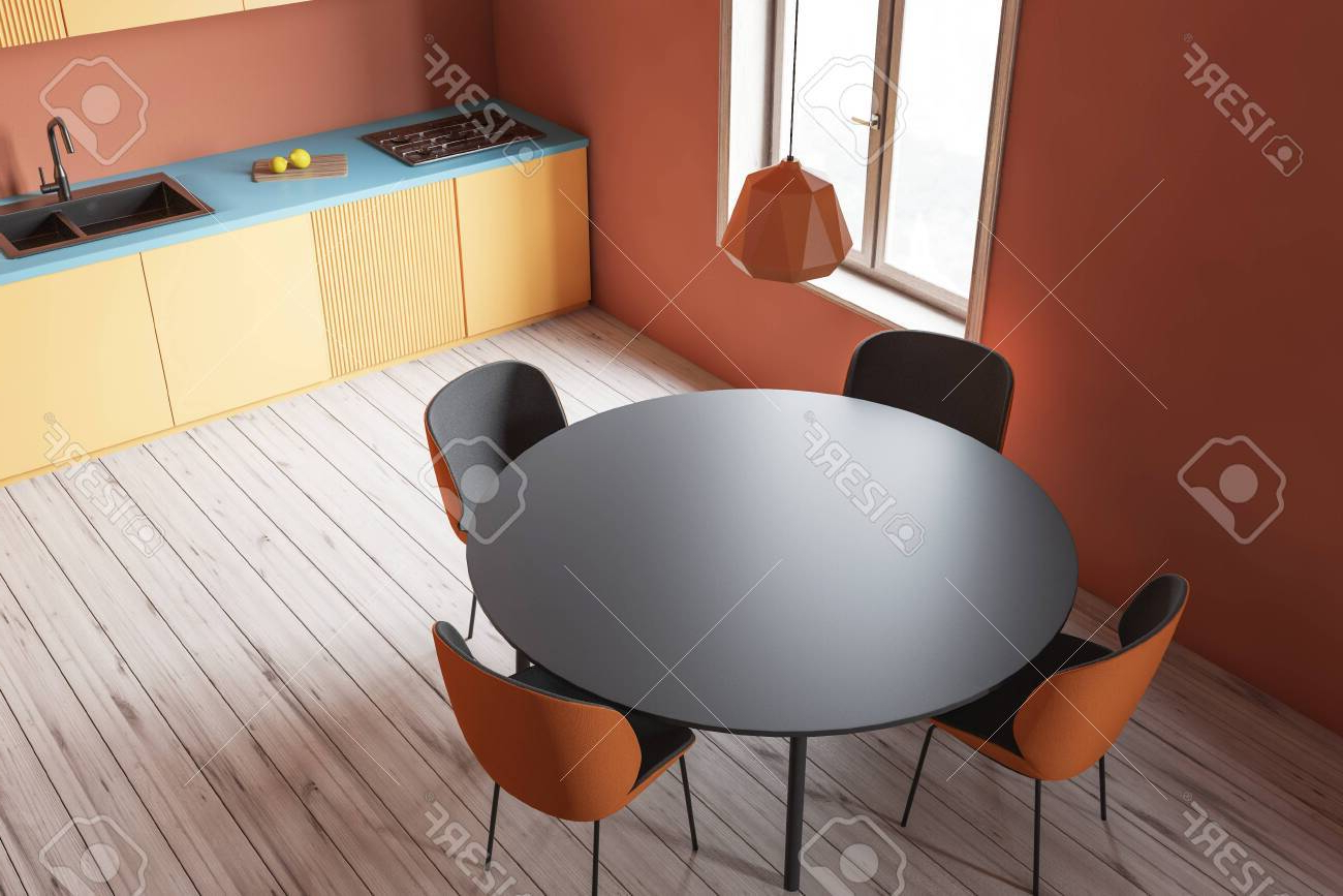 Acacia Wood Dining Tables With Sheet Metal Base Intended For Most Current Likable Round Dining Table Wood Top Splendid Furniture Room (View 25 of 25)