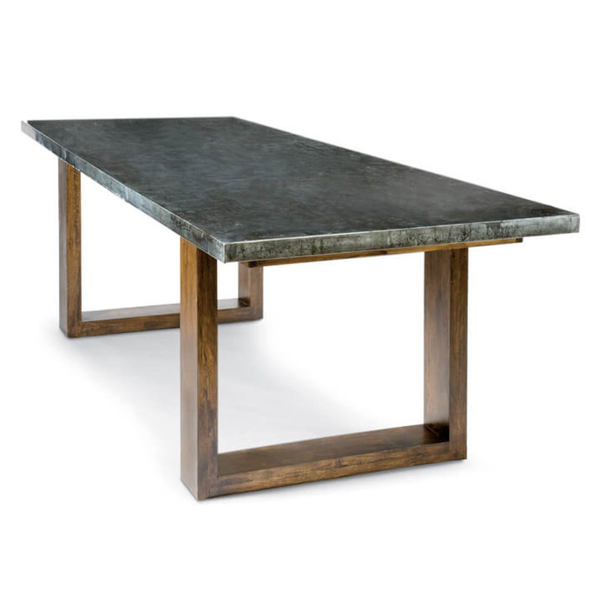 Acacia Wood Dining Tables With Sheet Metal Base Within Best And Newest Lfd – Zinc Dining Table With Plain Top (View 16 of 25)