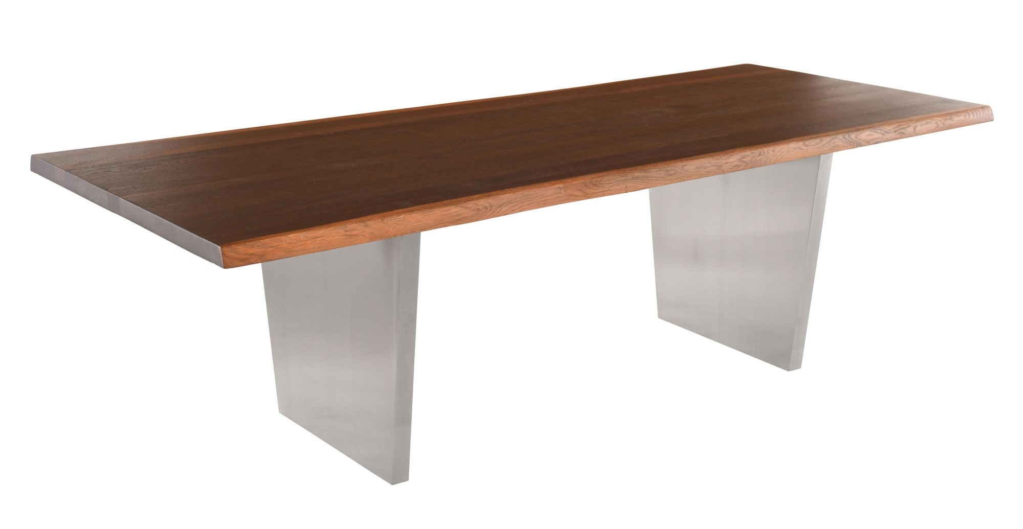 Aiden Dining Table (Long – Seared Oak With Stainless Base) With Regard To Latest Dining Tables In Seared Oak (View 5 of 25)