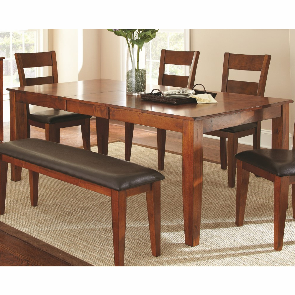Alamo Transitional 4 Seating Double Drop Leaf Round Casual Dining Tables Pertaining To Well Liked Steve Silver – Mango Dining Table With 18 Butterfly Leaf – Go400Tk (View 6 of 26)