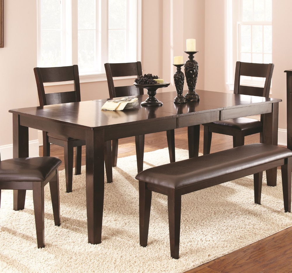 Alamo Transitional 4 Seating Double Drop Leaf Round Casual Dining Tables Throughout Trendy Steve Silver – Victoria Table With 18 Butterfly Leaf – Vc400T (View 8 of 26)