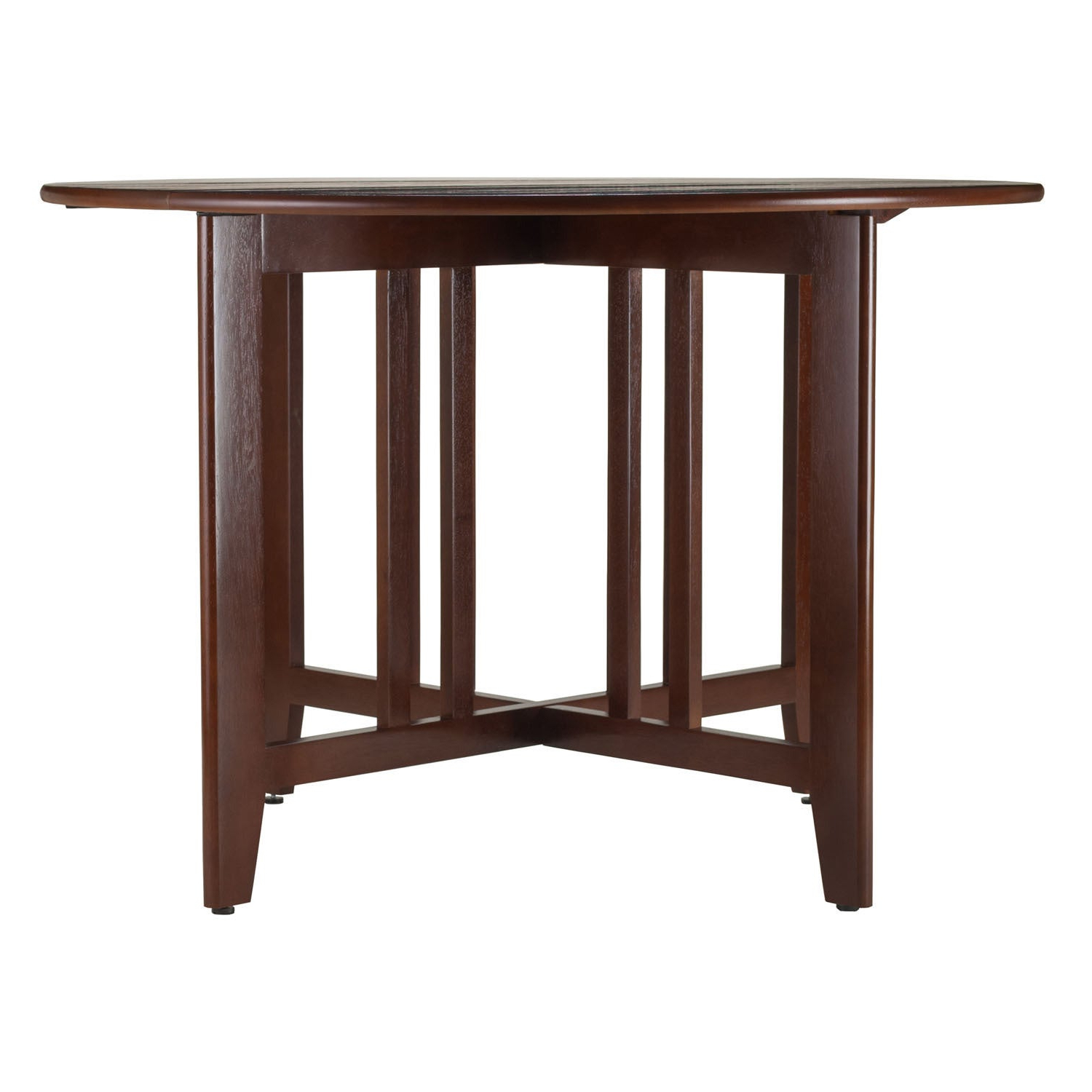 "Alamo Transitional 4 Seating Double Drop Leaf Round Casual Dining Tables With Preferred Alamo Double Drop Leaf Round 42"" Table Mission – N/a (View 2 of 26)"