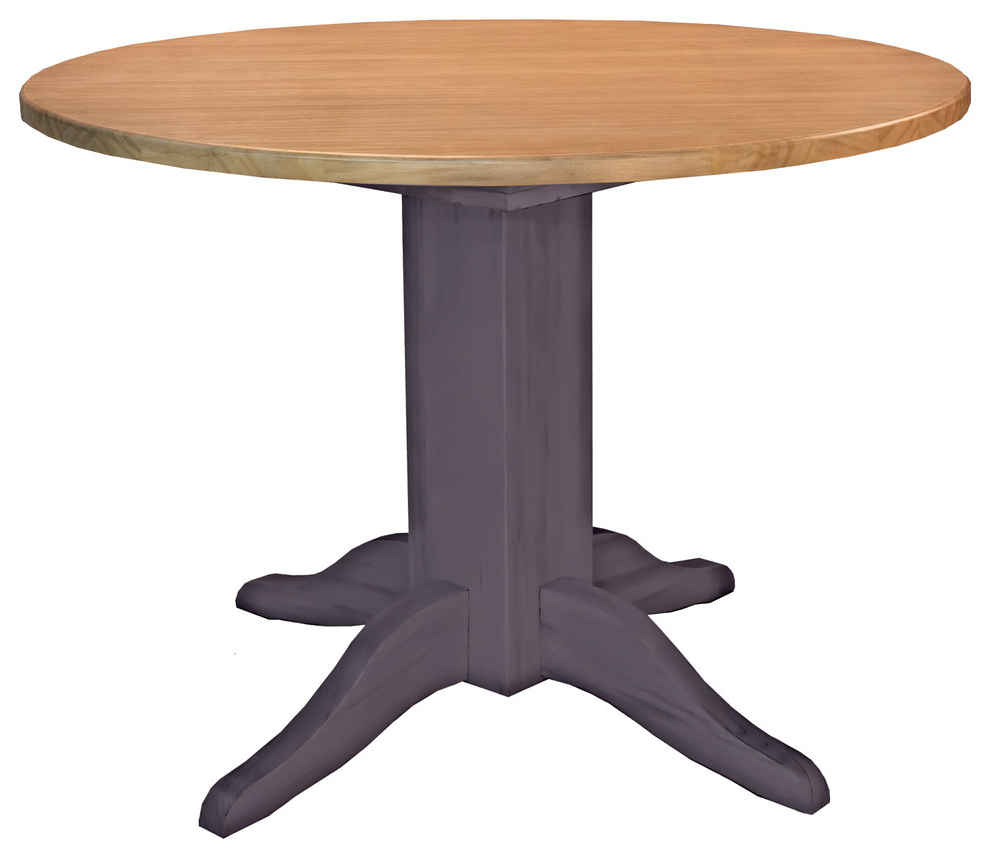 """Alamo Transitional 4 Seating Double Drop Leaf Round Casual Dining Tables Within 2020 A America Port Townsend 42"""" Double Drop Leaf Table (View 4 of 26)"""