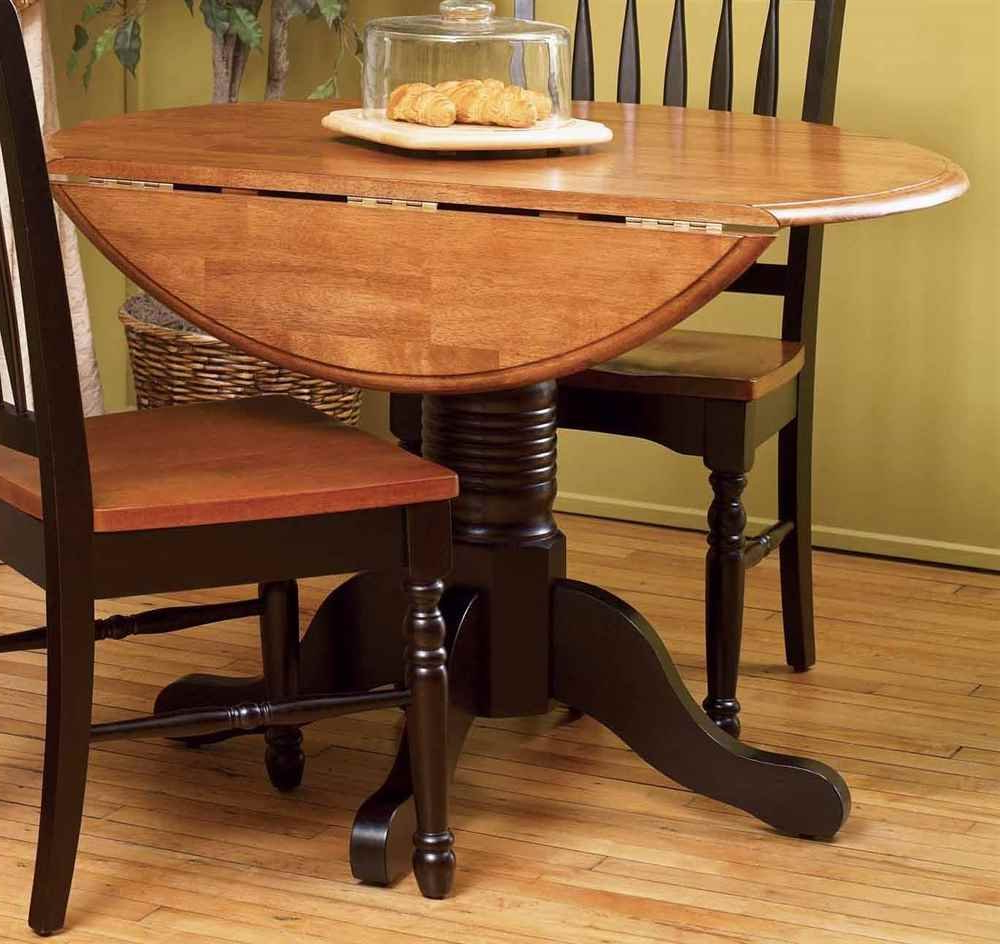 Amazon – A America British Isles Round Drop Leaf Dining Regarding 2019 Alamo Transitional 4 Seating Double Drop Leaf Round Casual Dining Tables (View 12 of 26)