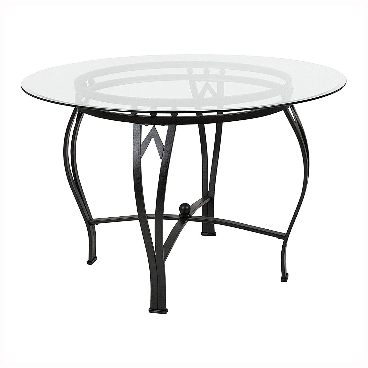 Amazon – Dining Tables, Modern 45 Inch Round Glass Top With Regard To Popular Modern Round Glass Top Dining Tables (View 9 of 25)