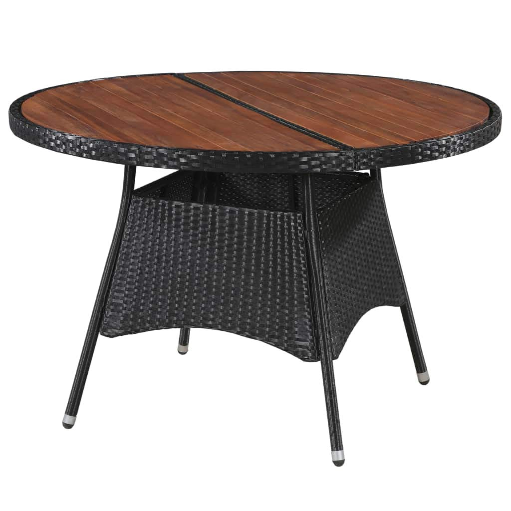 Amazon : Festnight Outdoor Round Dining Table Large With Regard To Trendy Solid Acacia Wood Dining Tables (View 19 of 25)