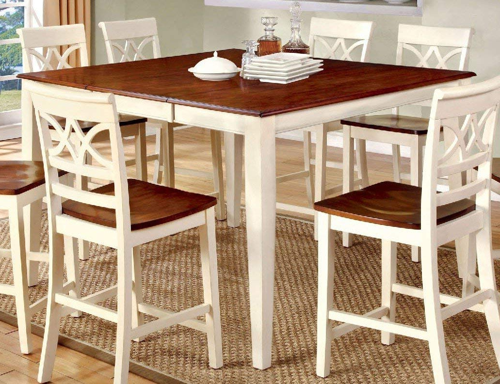 Amazon – Furniture Of America Cm3552Wc Pt Torrington Ii Intended For Well Known Transitional Antique Walnut Square Casual Dining Tables (View 4 of 25)