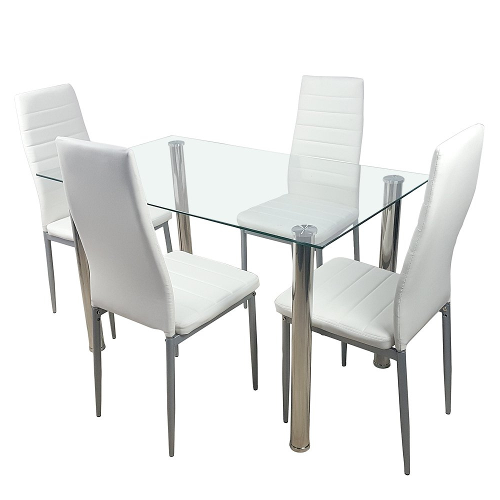 Amazon – Knocbel Dining Table Set Tempered Glass For Well Known Glass Dining Tables With Metal Legs (View 25 of 25)