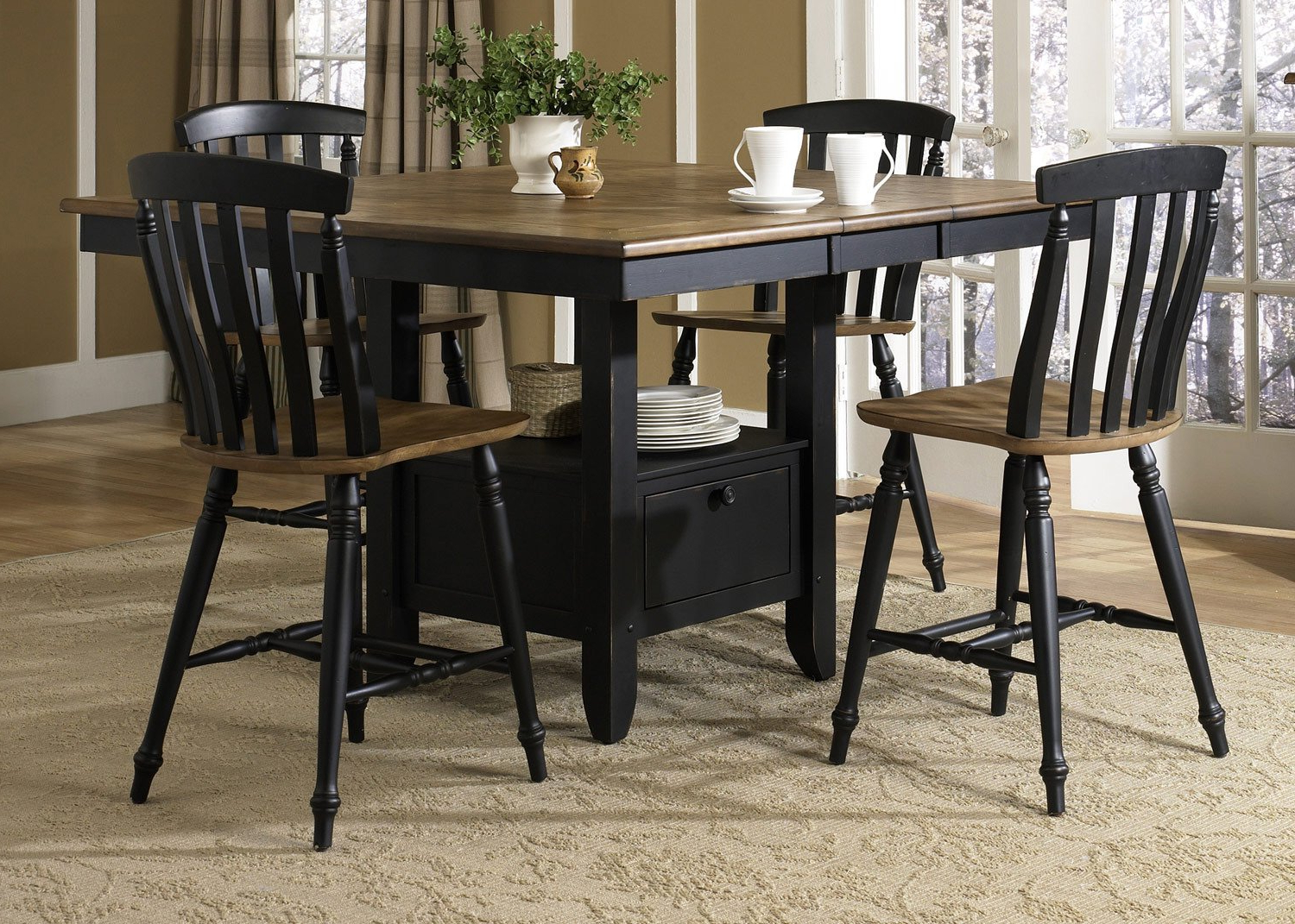 Amazon – Liberty Furniture Al Fresco Ii Counter Height Within Trendy Transitional Driftwood Casual Dining Tables (View 9 of 25)