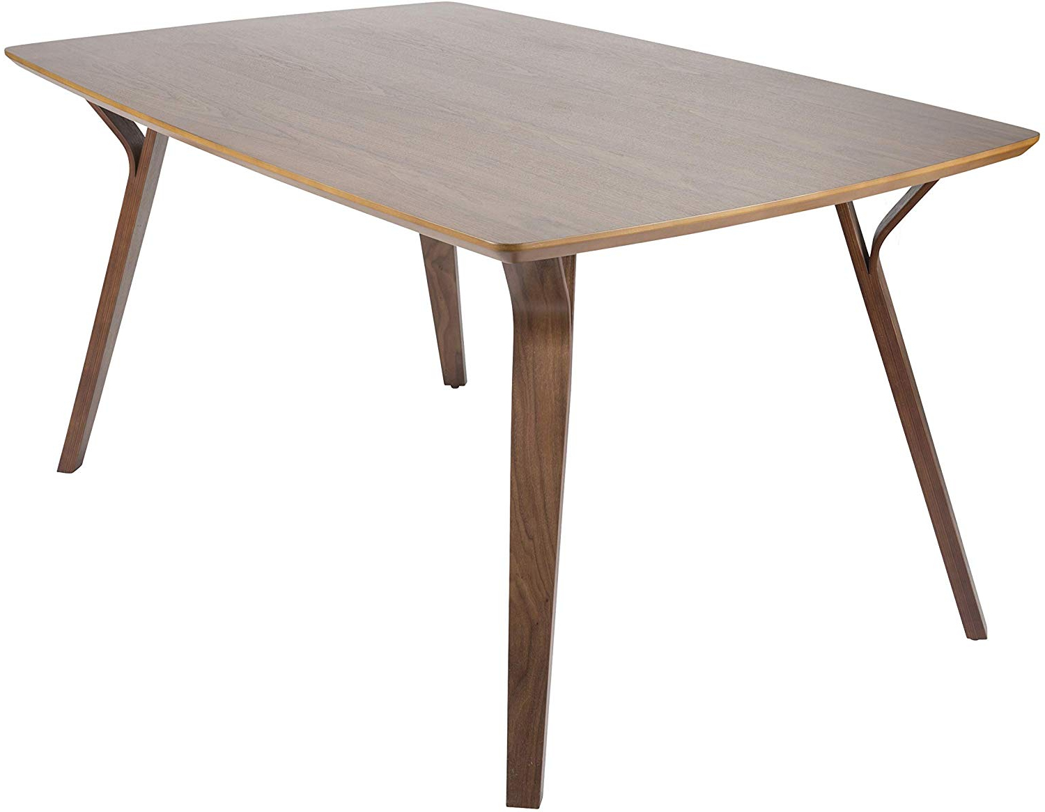 Amazon – Lumisource Mid Century Modern Dining Table In For Trendy Distressed Walnut And Black Finish Wood Modern Country Dining Tables (View 19 of 25)